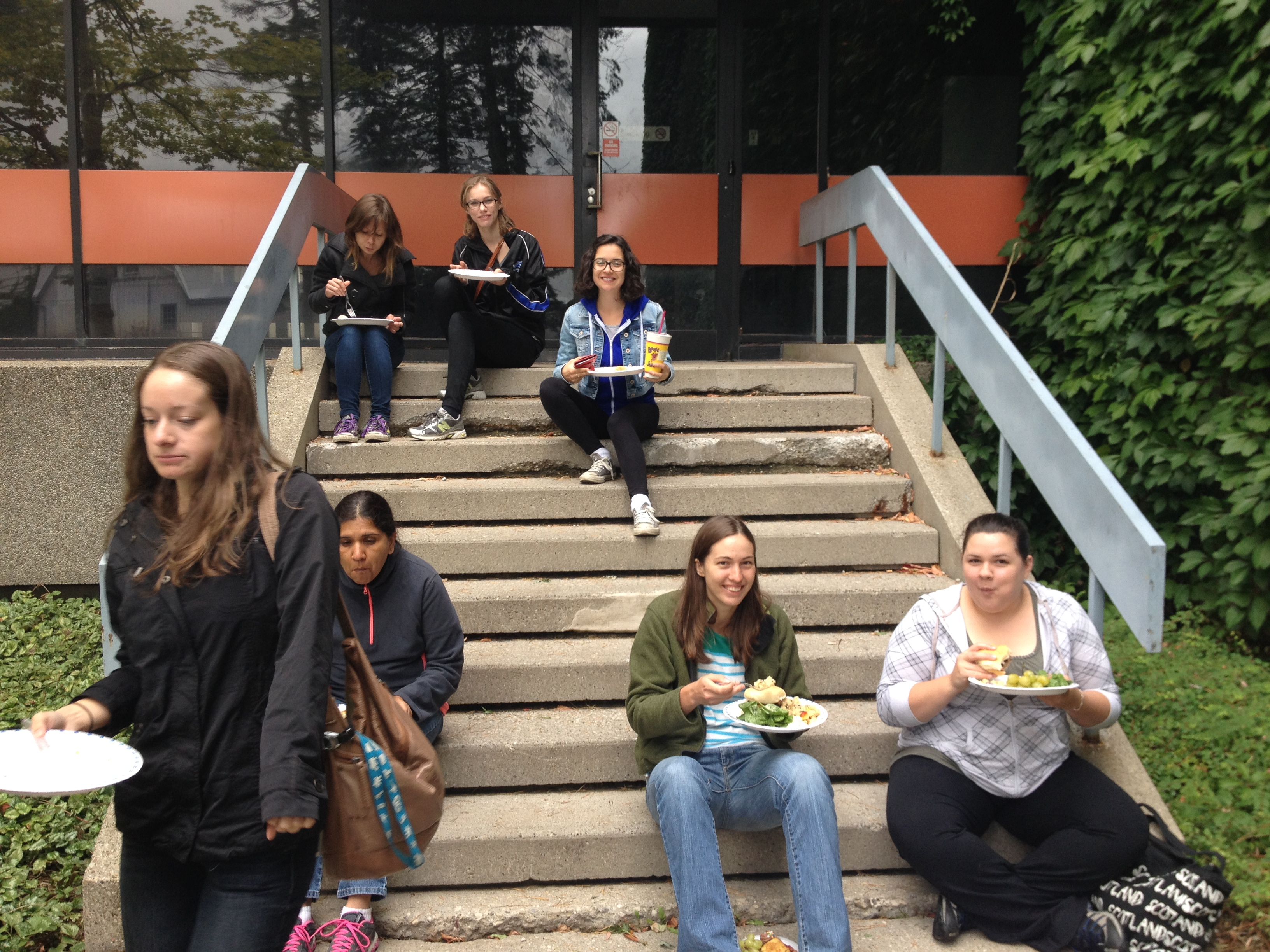 BBQ on the stairs
