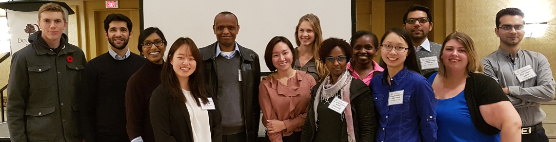 Members of Monogastric Lab of Dr. Elijah Kiarie at Poultry Innovations Conference in London, Nov 2017