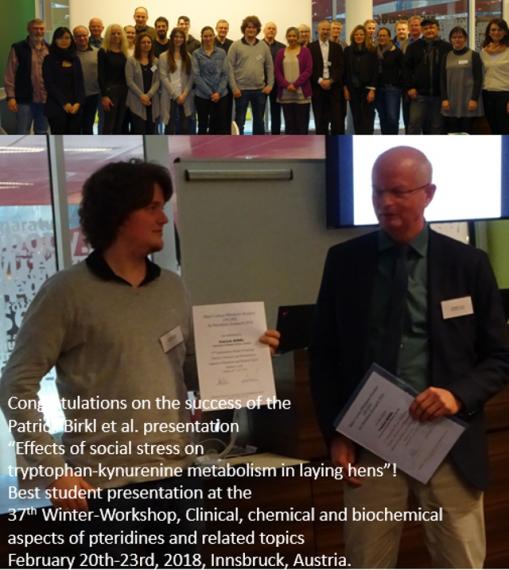 Patrick Birkl for receiving the Best Student Presentation Award!